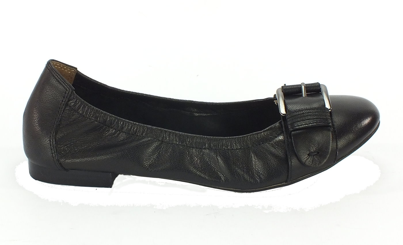 Details zu NEU Caprice Leder Ballerina schwarz *6250