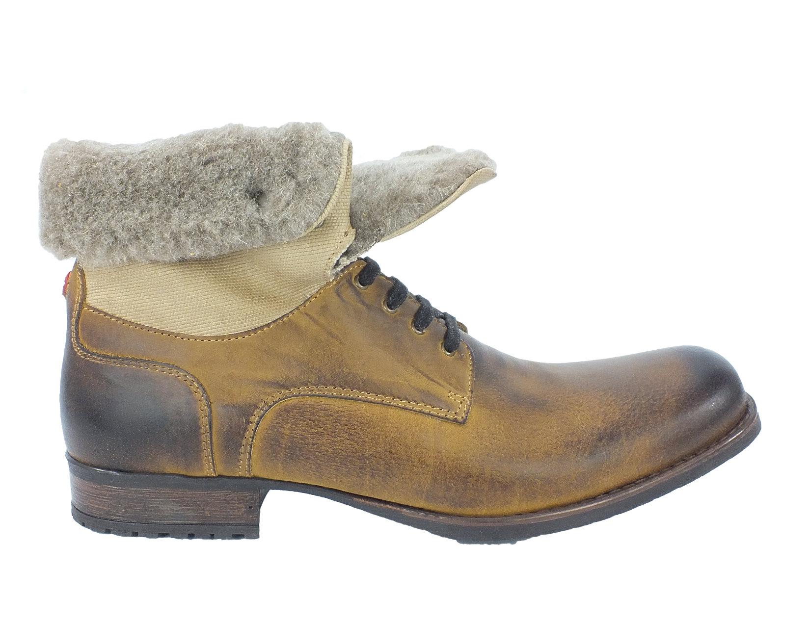 neu nobrand herren leder combat boots panama oil braun 6309 ebay. Black Bedroom Furniture Sets. Home Design Ideas