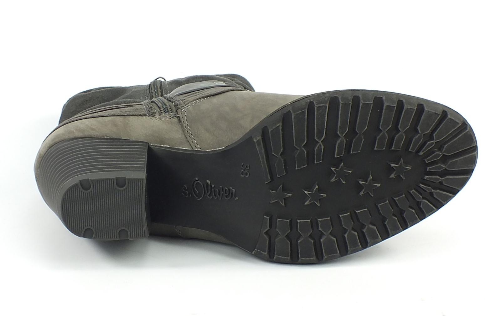 neu s oliver stiefelette boots grau 7056 ebay. Black Bedroom Furniture Sets. Home Design Ideas