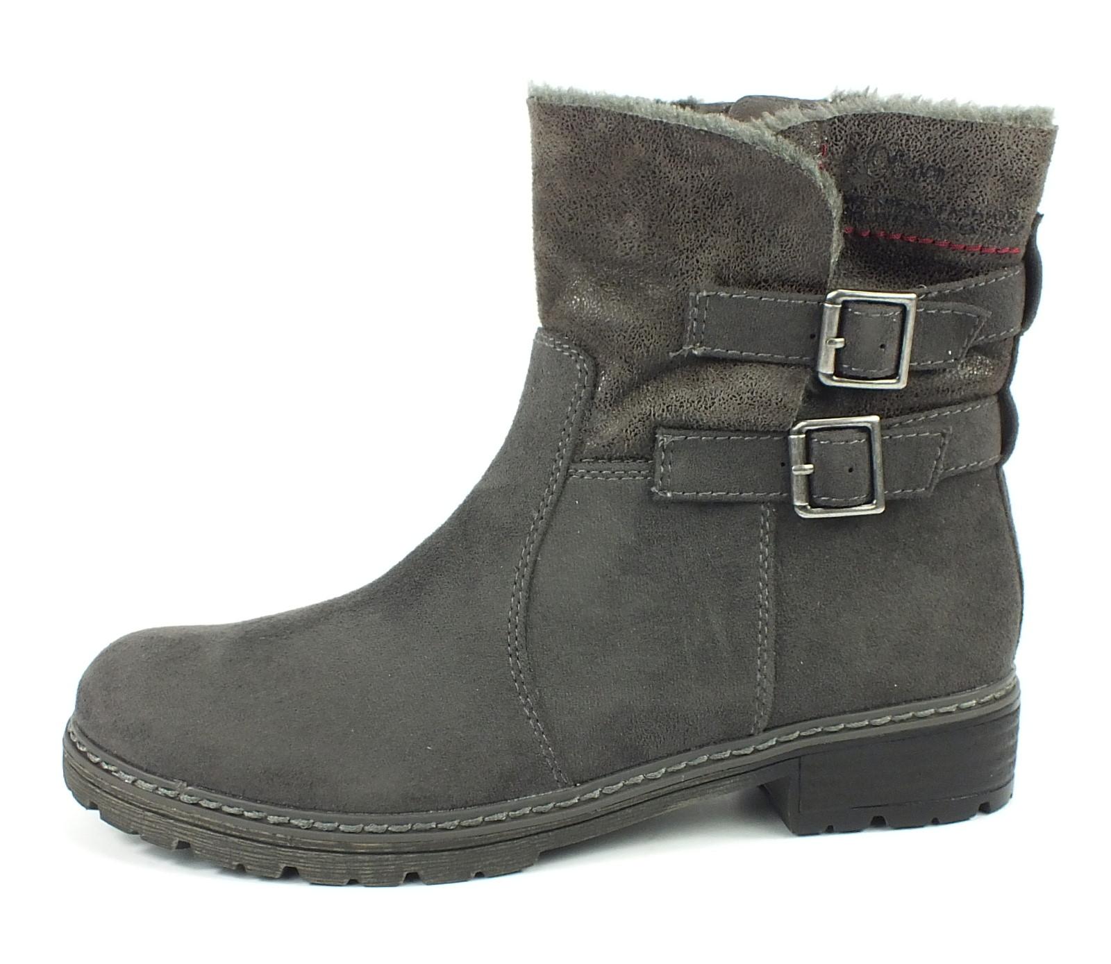 neu s oliver stiefelette boots grau 7068 ebay. Black Bedroom Furniture Sets. Home Design Ideas