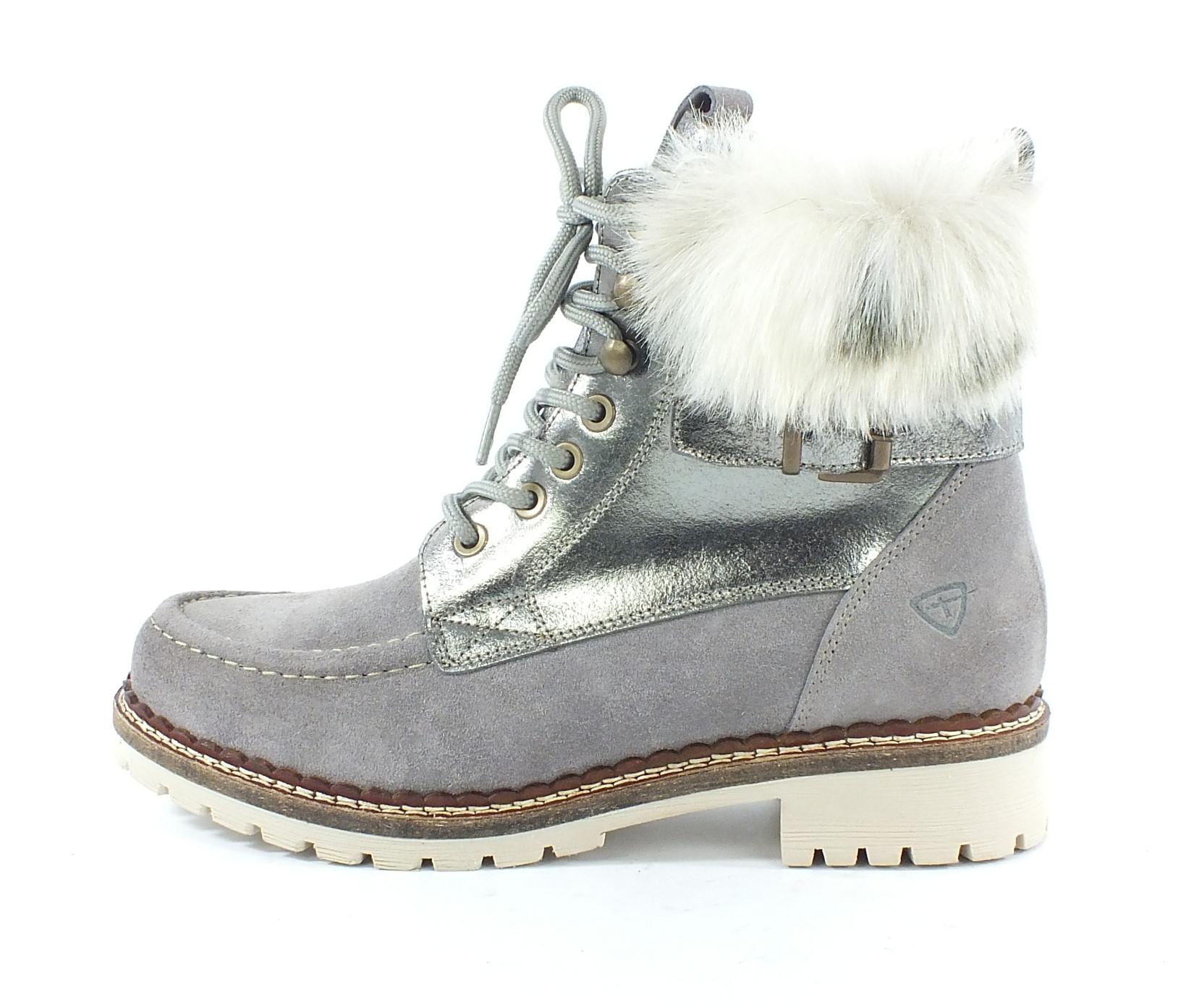 neu tamaris leder boots stiefelette warmfutter grau 7172. Black Bedroom Furniture Sets. Home Design Ideas