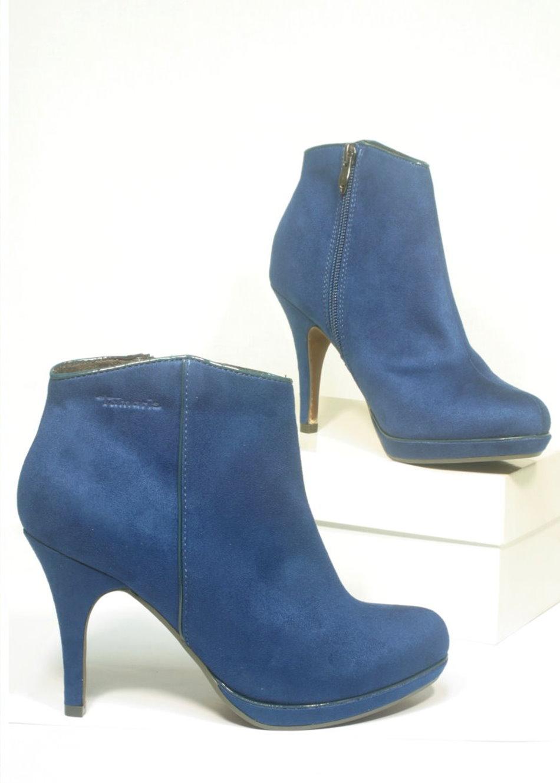 neu tamaris trend stiletto stiefelette dark royal blau 4965 ebay. Black Bedroom Furniture Sets. Home Design Ideas