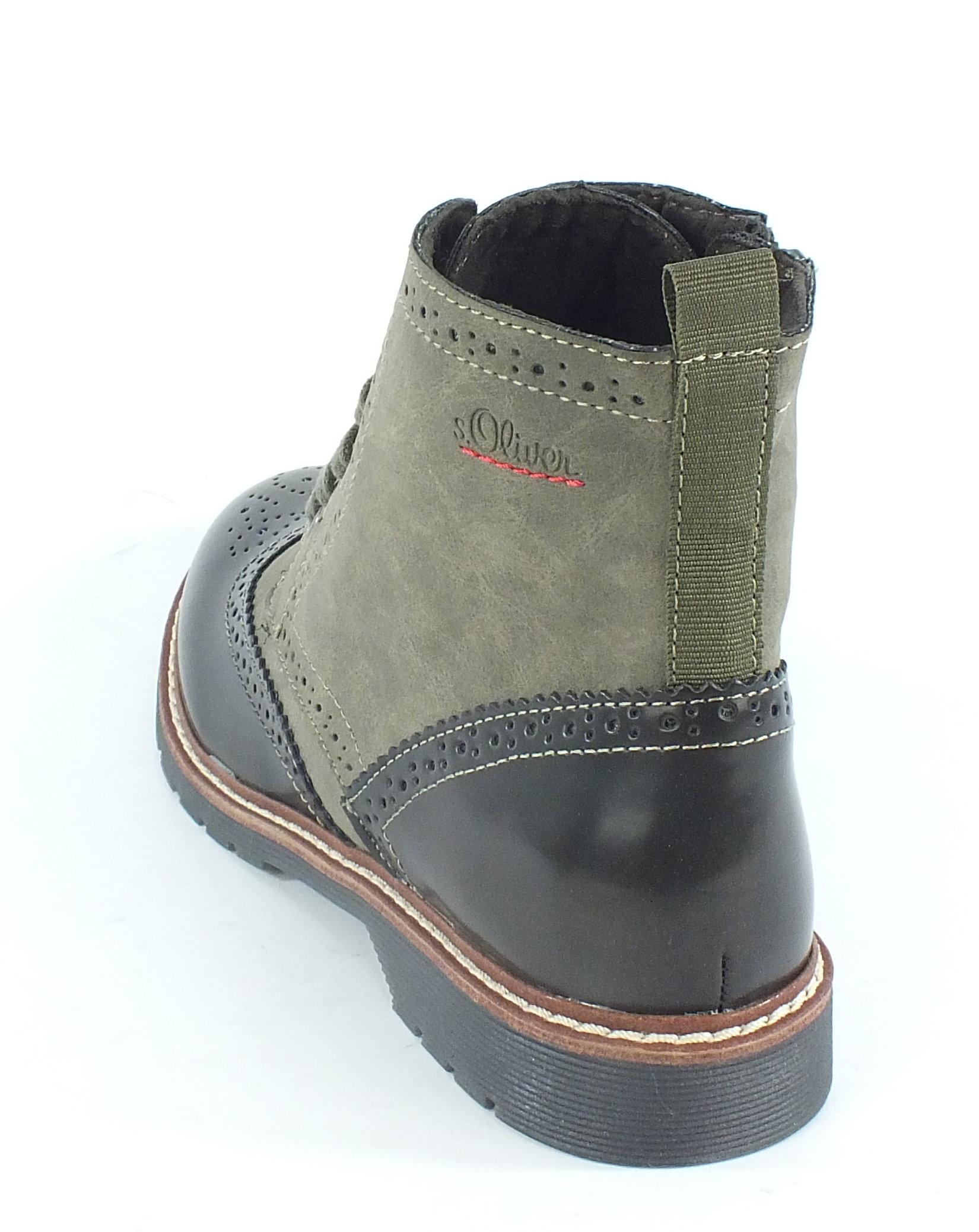 s oliver stiefelette stiefel boots khaki 10009 ebay. Black Bedroom Furniture Sets. Home Design Ideas