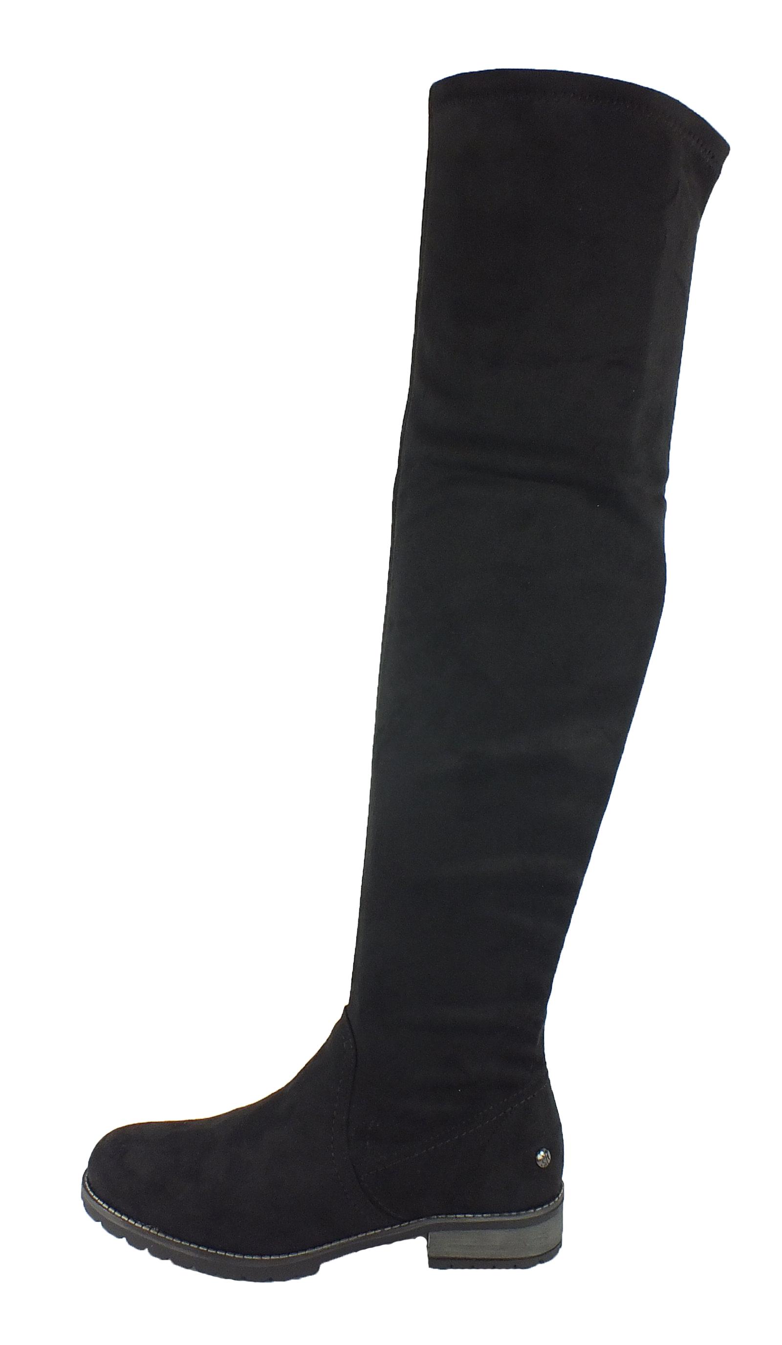 s.Oliver Overknee stretch Overknee Stiefel Taupe 10183