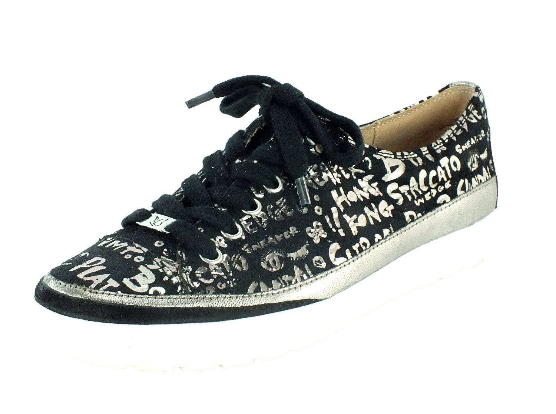 cheap for discount d1368 d0730 Details zu Caprice Leder Sneaker Schnürschuhe Black Letters 10381  ehemaliger UVP 69,95€
