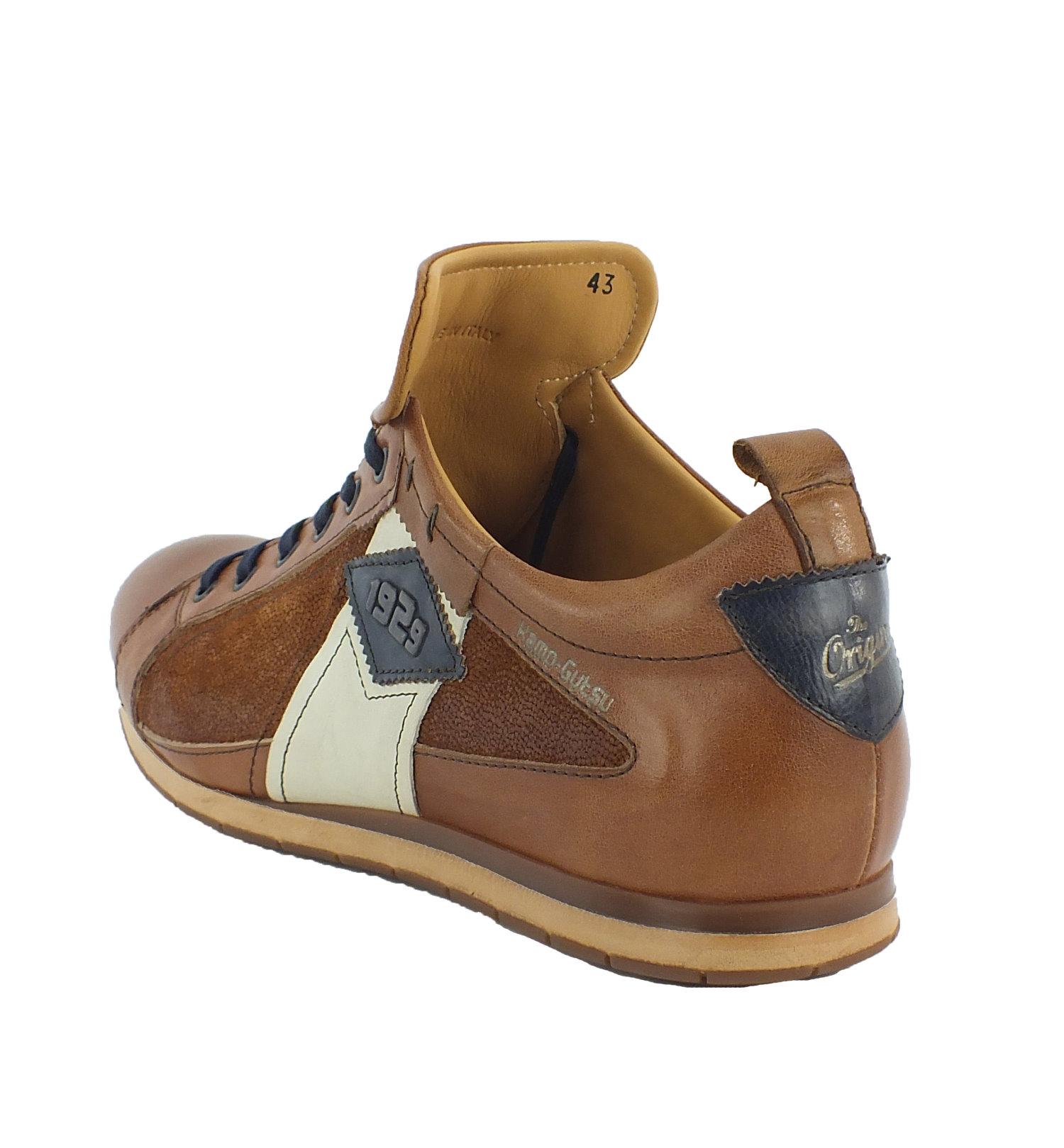 Kamo-Gutsu Herren Leder Schnürer Sneaker Halbschuhe Schnürschuhe 10206