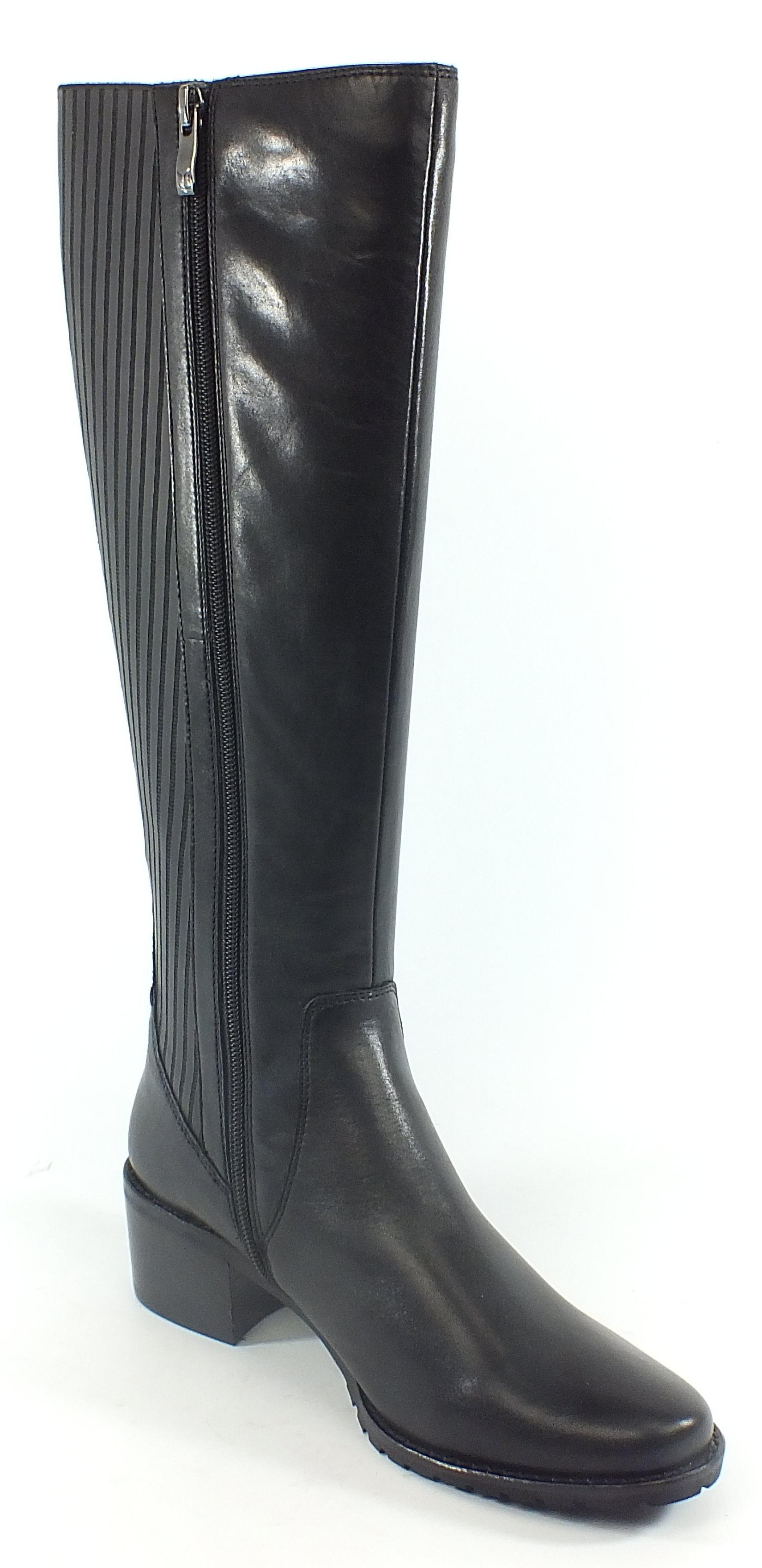 caprice stretch leder stiefel boots schwarz dehnbar xs. Black Bedroom Furniture Sets. Home Design Ideas