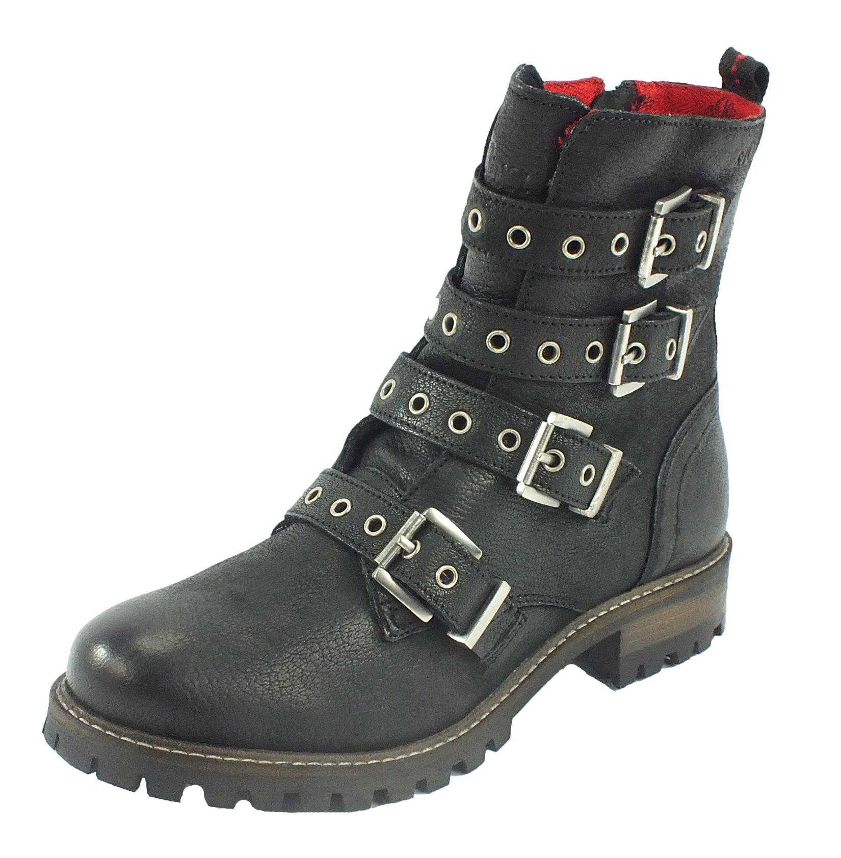 s oliver leder boots stiefelette stiefel schwarz 7430 ebay. Black Bedroom Furniture Sets. Home Design Ideas