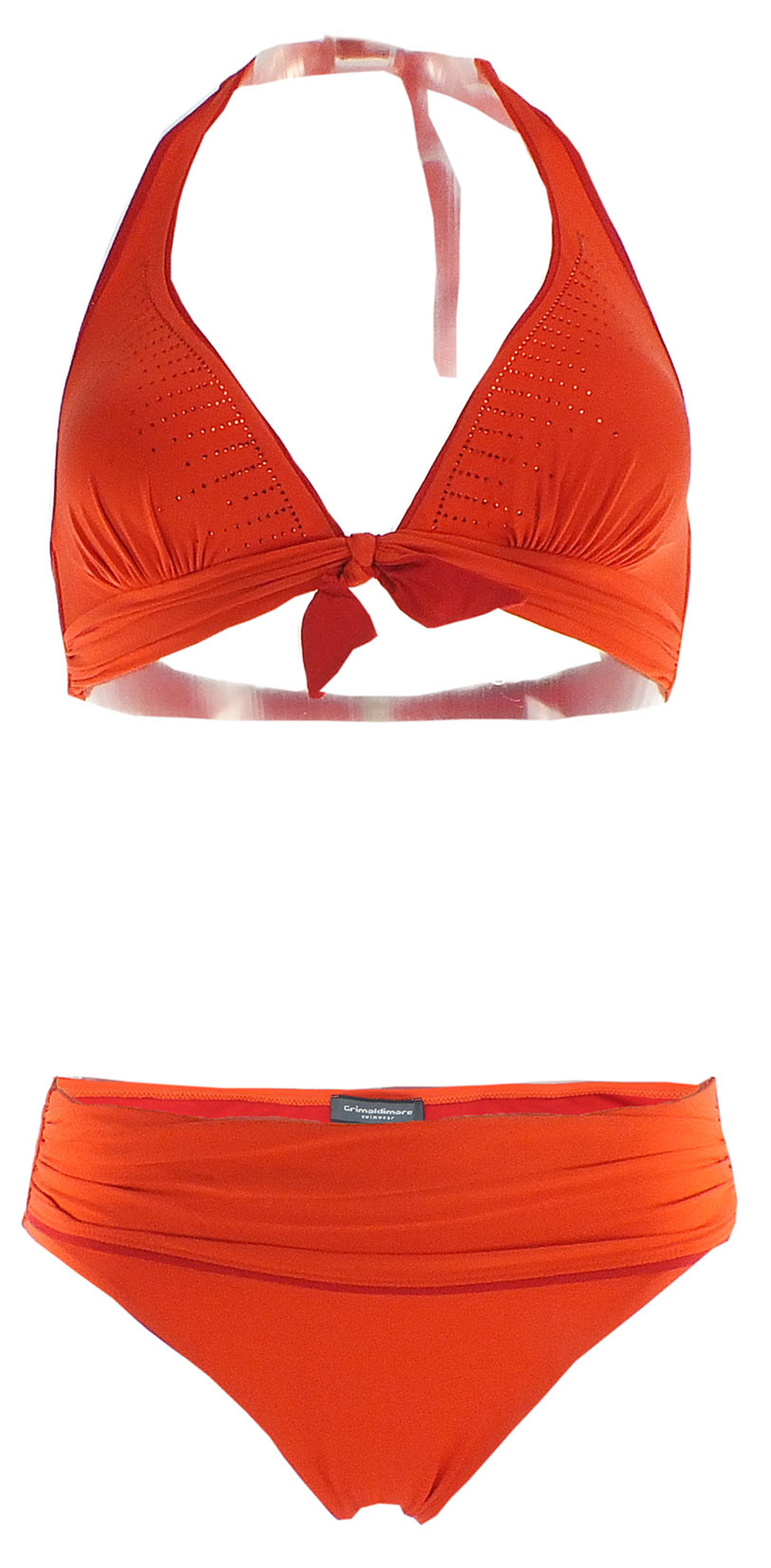 Neckholder-Bikini von Grimaldimare 36 lila-orange