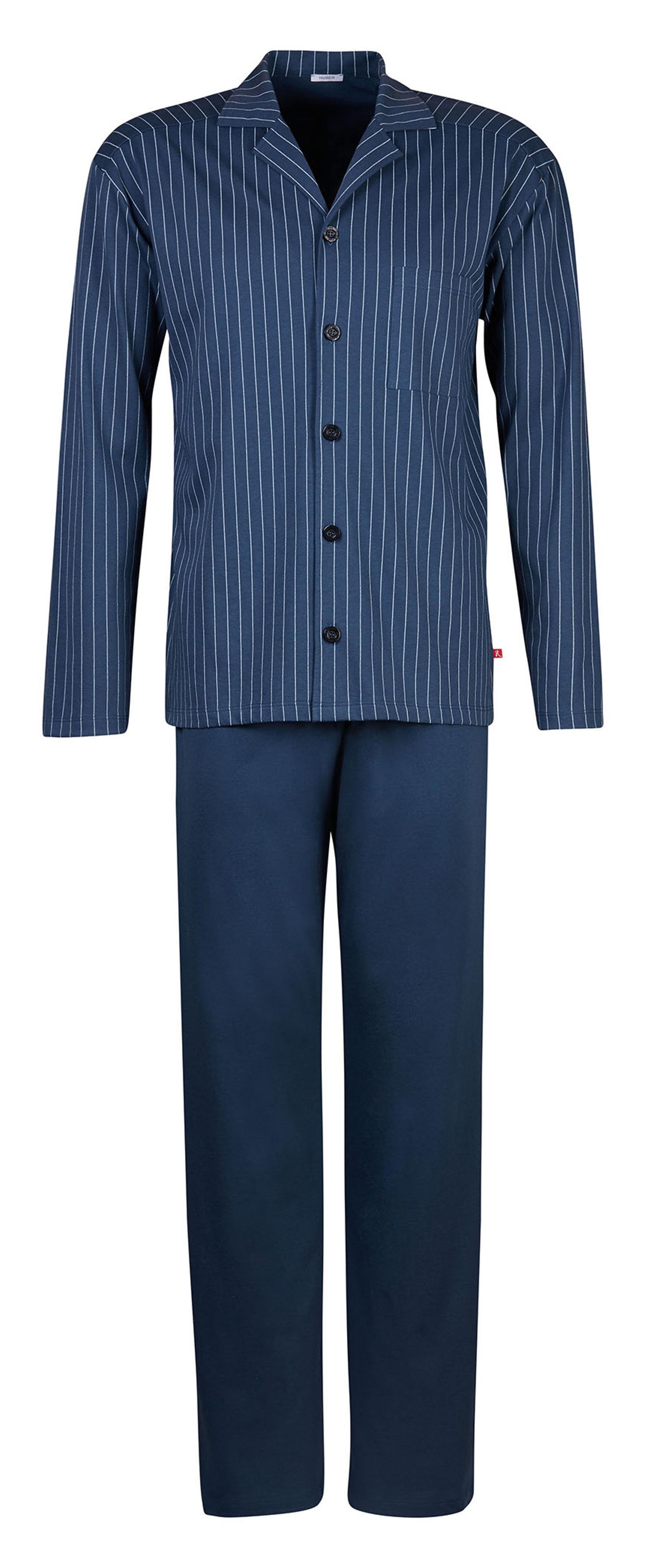 hoch gelobt bekannte Marke schön billig Details zu Huber Herren Schlafanzug Pyjama petrol 17595 6692