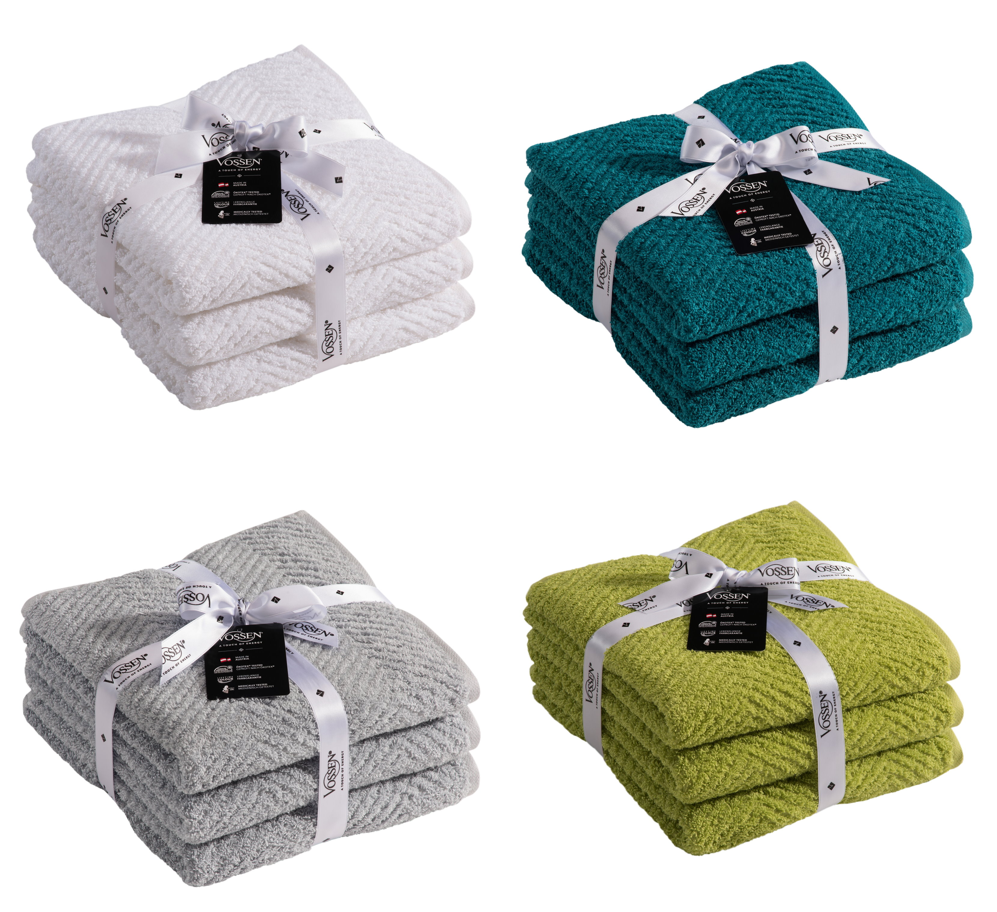 vossen 3er set handt cher handtuch duscht cher g stet cher mississippi ebay. Black Bedroom Furniture Sets. Home Design Ideas