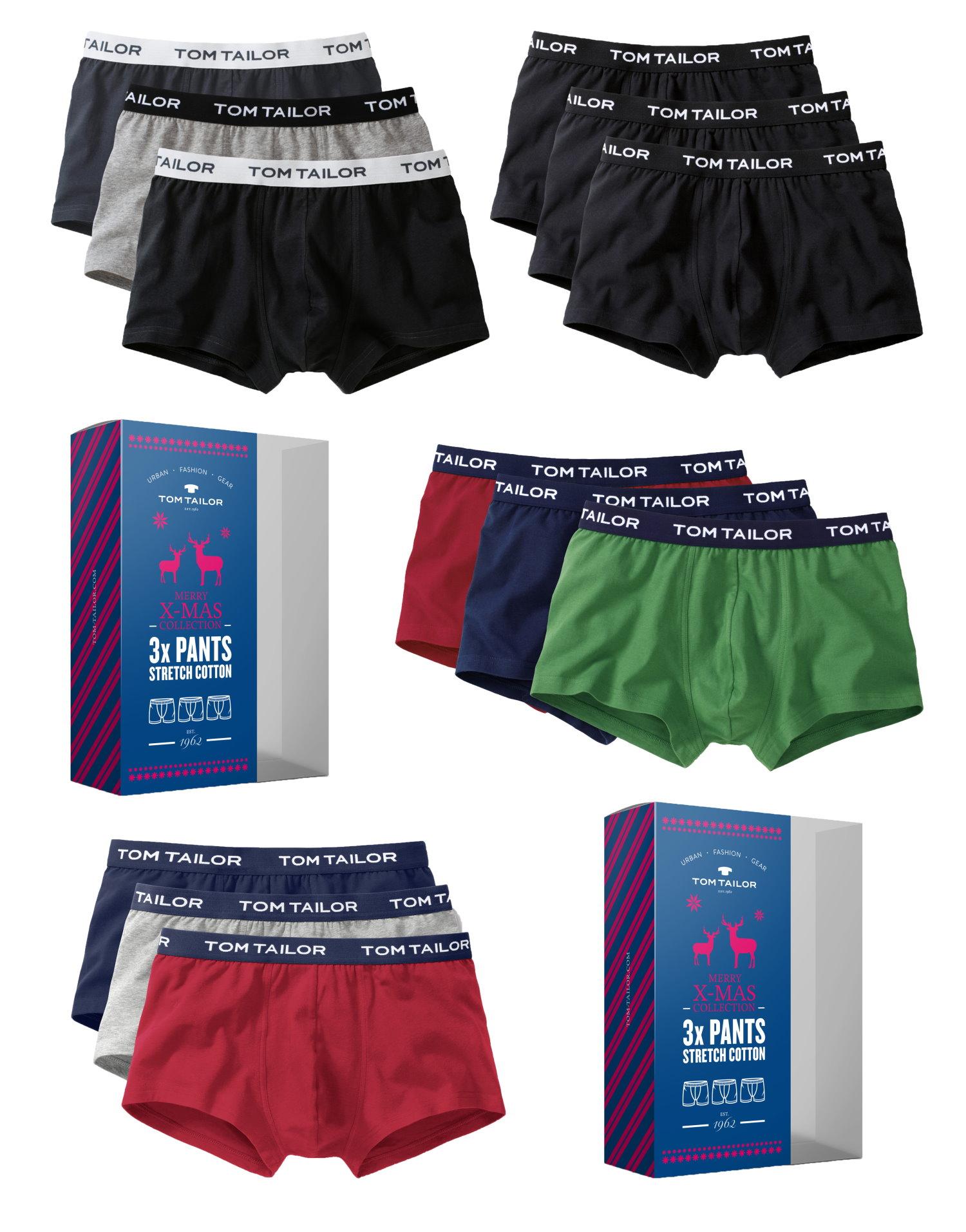 3er Pack Tom Tailor Pants Boxer Shorts Hipster Slips Weihnachts ... d6e5b0f00c